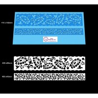 Cake Lace Dual Ribbon Mat For Cake Decoration - Gerbera Lace Mat